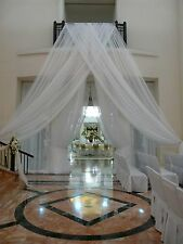 """Wedding Drapes White or Ivory , 18' x 114"""", for backdrop or wall covering"""