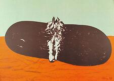 Mattia MORENI - L'anguria sul tavolo si esibisce - 1971  lito originale