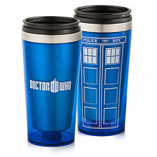 TAZZA TRAVEL MUG CUP DR DOCTOR WHO DOTTOR TARDIS PHONE BOX POLICE CABINA TV #1