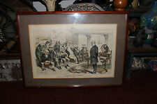 Antique J Keppler Engraving Print-Guardians Of Our Investments-Puck Magazine