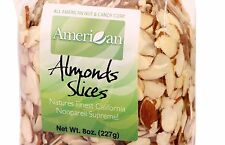 8oz Gourmet Style Bag of Natural Sliced Almonds (7.9)