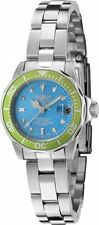 New Women's Invicta 11438 Pro Diver Mini Blue Dial Stainless Steel Watch