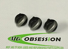 MGF / MG TF Silver / Black Heater Knob Set