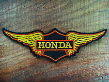 New HONDA Wing Motorcycles Rider Biker Patch Iron on Embroidered Jacket Logo