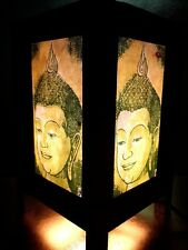 Thai Vintage Handmade Asian Oriental  Head Buddha Bedside Table Light  Lamp #1