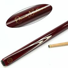 BCE Ronnie O`Sullivan MAROON & CREAM 2 Piece Pool Snooker Cue - 9.5mm Tip