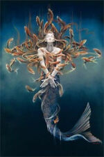 METAMORPHOSIS - SHEILA WOLK FANTASY ART POSTER - 24x36 MERMAID 764