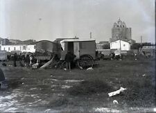 SAINTES MARIES DE LA MER c. 1935 - Camp Gitans Négatif Verre - V9 362