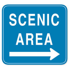 """SCENIC AREA Road Sign sticker decal 4"""" x 4"""""""