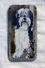 TIBETAN TERRIER DOG NEW GLASSES CASE POUCH SANDRA COEN ARTIST OIL PAINTING PRINT