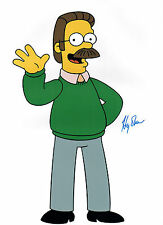Harry SHEARER Signed Ned FLANDERS The Simpsons Autograph 16x12 Photo AFTAL COA