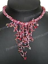 STYLISH CORAL PATTERN PINK RED BEADS CARNELIAN necklace
