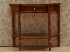 Dolls House Quality furniture  Serving Table with Bottom Shelf in Walnut R0467