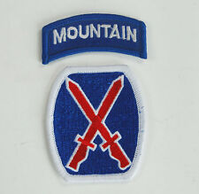 US 10TH MOUNTAIN DIVISION NEW BLUE PATCH W/TAB 2 PIECE -32836