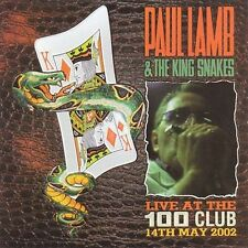 PAUL LAMB & KING SNAKES - Live at the 100 Club CD (2003, Blues Concert )