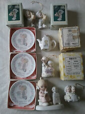 Precious Moments Figurines/Ornaments-Lot of 9 with Boxes - Mint!