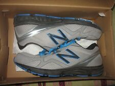 MENS 13 NEW BALANCE VIBRAM BLUE GRAY SILVER  COURSE TRAIL ATHLETIC RUNNING SHOES