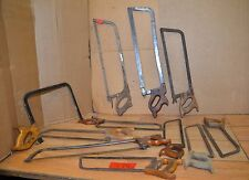12 pc antique butcher hand saw lot collectible early meat cutting tools vintage