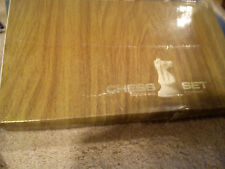 CHESS SET  WITH BOARD& BOX FROM 1960' KING 4'' HIGH