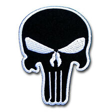 Small Punisher Skull Patch Iron on Seal Harley Chopper Biker Rider Painball Gun