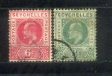 Seychelles King Edward 2 Used Stamps