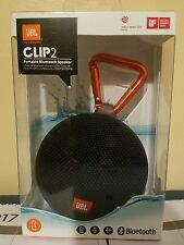 JBL CLIP 2 (BLACK ) Bluetooth Portable Speaker BRAND NEW! Shipped Today !!!