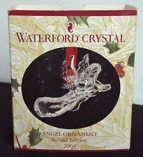 WATERFORD CRYSTAL ANGEL CHRISTMAS ORNAMENT SECOND EDITION 2003 + RED BOX +HANGER