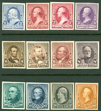 USA : 1890-93. Scott #219P4-229P4 Complete set of Plate Proofs on card. Cat $770