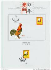 macau/1993 cock-chinese new year- p.g.s./mnh.good codition