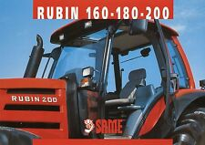 Prospekt Same Rubin 160 180 200 9 01 2001 Trecker Schlepper Traktor tractor Ital