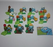 PUFFI PUFFO 2013 NEW MEGA BLOKS 10757 SAT 11 DIFFERENT SMURF SMURFS SCHTROUMPF