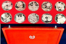 Rare 1969 Tunisia Large Silver Proof 10 coin set-Italian mint-not Franklin