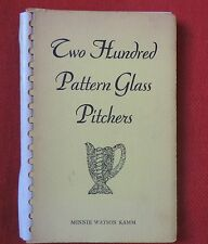Book on Antique 19th c. American Pattern Pressed Glass Pitchers EAPG Minnie Kamm