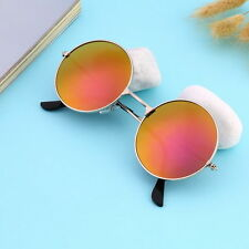 Hot Women Men Eyewear Corful Mirror lens Round Glasses Sunglasses Vintage QP