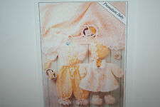 Matinee Coat and Premature Baby's 7 items Knitting Pattern