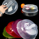Plastic Microwave Plate Cover Food Dish Steam Vent Splatter Lid Kitchen Cooking*