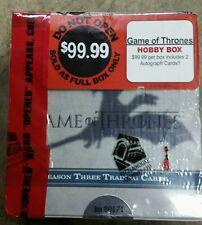 Game of Thrones season 3 trading card box factory sealed / 2 autographs per box