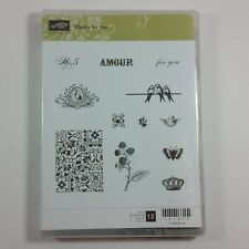 Stampin' Up! CLEARLY FOR YOU Clear Rubber Stamp Amour Birds Butterfly Angel