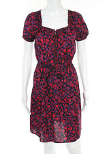 MARC BY MARC JACOBS Multicolored Floral Print Short Sleeve Dress Sz 0