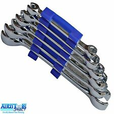 6pc Flare Nut Spanner Wrench Set Brake Fuel Injection Gas Pipes 6-24mm