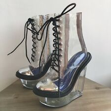 Jeffrey Campbell Transparent Clear Jadis Door Platforms 5