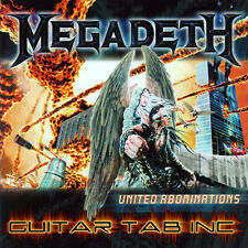 Megadeth Guitar Tab UNITED ABOMINATIONS Lessons on Disc