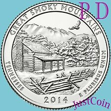 2014 P&D Set Great Smoky Mountains National Park Quarters Uncirculated Us Mint