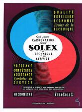 PUBLICITE ADVERTISING 024   1959   SOLEX   la carburation