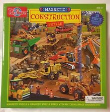 Construction Magnetic Puzzle from TS Shure 51 Pieces Age 3+ Matching Board