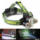 10000LM LED Headlight Flashlig Torch Cree 3x XM-L T6 Headlamp Head Light Lamp