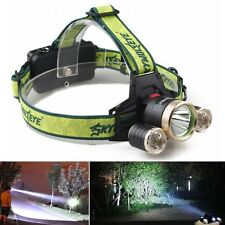 15000LM LED Headlight Flashlig Torch Cree 3x XM-L T6 Headlamp Head Light Lamp