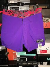 NWT Vintage Quiksilver Purple Jagged Edge Board Shorts Size 30