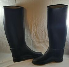 Cottage Craft Rubber Equestrian Style Tall Boots Black Made in Israel sz 39 (L)