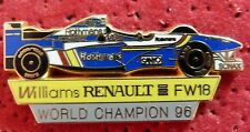 RARE PIN'S F 1 FORMULA ONE WILLIAMS RENAULT FW18 96 ROTHMANS ZAMAC 50 EX
